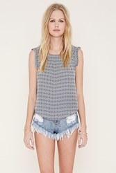 Forever 21 Geo Print Top