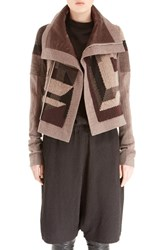 Women's Rick Owens Patchwork Wool Blend Biker Jacket