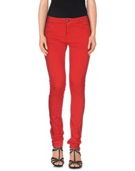 Twin Set Simona Barbieri Denim Denim Trousers Women Red