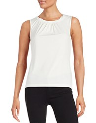 Tahari By Arthur S. Levine Petite Knotted Shell Ivory White