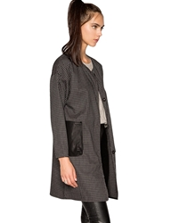 Pixie Market Check Duster Cocoon Coat