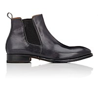 Harris Men's Burnished Chelsea Boots Black Blue Black Blue