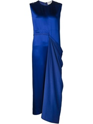 Maison Rabih Kayrouz Draped Panel Dress Blue