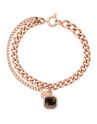 Michael Kors Smoky Topaz And Crystal Bracelet Rose Gold