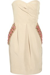 Matthew Williamson Valencia Embellished Cotton Blend Dress