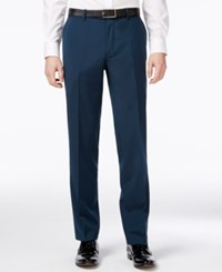 Bar Iii Men's Asteroid Teal Slim Fit Tuxedo Pants Only At Macy's