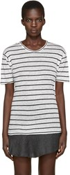 Etoile Isabel Marant Off White Striped Andreia T Shirt