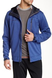 Free Country Marled Fleece Jacket Blue