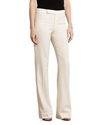 Ralph Lauren Stretch Twill Flared Pants Antique Ivory