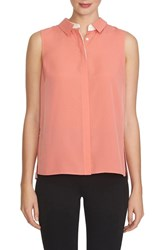 1.State Women's 1. State Pleat Back Sleeveless Blouse Coral Crush