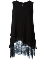 Ermanno Scervino Layered Lace Sleeveless Blouse Black
