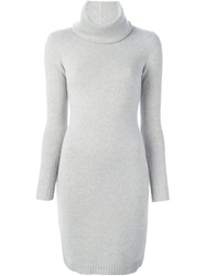 Ralph Lauren Black Label Ralph Lauren Black Fitted Knit Dress Grey