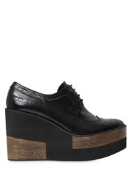 Paloma Barcelo 100Mm Brogue Leather Wedges