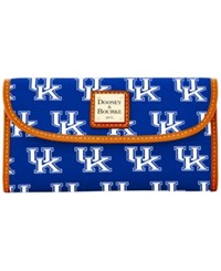 Dooney And Bourke Kentucky Wildcats Ncaa Large Continental Clutch Blue