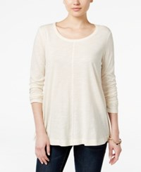 Styleandco. Style Co. Long Sleeve Swing Top Only At Macy's Warm Ivory