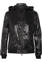 Rag And Bone Hooded Faux Leather Jacket Black