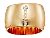 Guess Wide Logo Band Ring Gold Ring