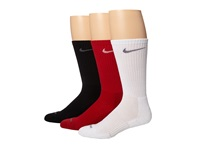 Nike 3 Pair Pack Dri Fit Cushion Crew Gym Red White White Flint Grey Black Flint Grey Crew Cut Socks Shoes Multi