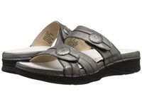 Drew Shoe Ariana Pewter Leather Women's Sandals
