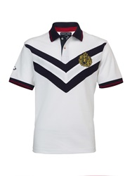 Raging Bull Big And Tall Double Chevron Polo Shirt White