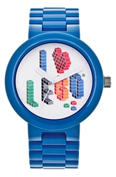 'I Love Lego' Bracelet Watch 42Mm Blue Multi