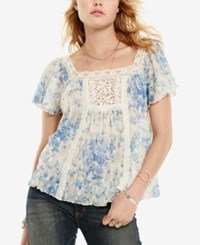 Denim And Supply Ralph Lauren Floral Print Boho Shirt Jacqueline Floral
