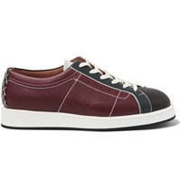 Bottega Veneta Leather Bowling Sneakers Navy