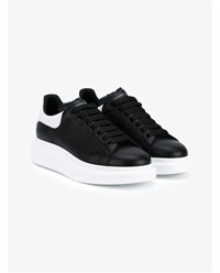 Alexander Mcqueen Heavy Sole Leather Trainers Black White