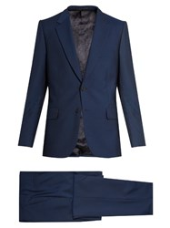 Paul Smith Mayfair Fit Wool And Mohair Blend Travel Suit Navy