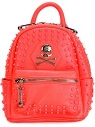 Philipp Plein Small 'Sovereign' Backpack Pink And Purple