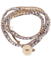 Lonna And Lilly Glass Bead Wrap Style Bracelet Purple