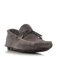 Linea Bicester Woven Driver Shoes Grey