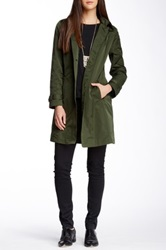 Rainforest Hooded Travel Trench Coat Green