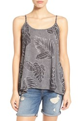 Volcom Women's 'Lunar Safari' Palm Print Tank Black