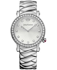Juicy Couture Women's La Luxe Stainless Steel Bracelet Watch 36Mm 1901487 Silver