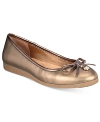 Giani Bernini Odeysa Memory Foam Ballet Flats Only At Macy's Women's Shoes New Dark Bronze