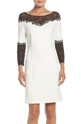 Laundry By Shelli Segal Women's Lace Trim A Line Dress