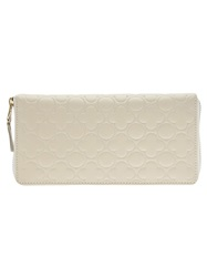Comme Des Garcons Play Floral Embossed Zip Wallet White