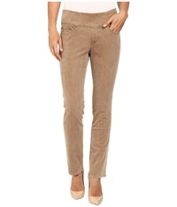 Jag Jeans Petite Peri Pull On Straight Wale Corduroy Toffee Women's Casual Pants Brown