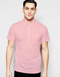 Farah Polo Shirt With Pocket Regular Fit Pink