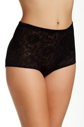Joan Vass Mesh Padded Panty Brief Plus Size Available Black