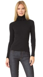 Victoria Beckham Multi Loop Roll Neck Sweater Black
