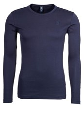 G Star Gstar Base R T L S Slim Fit Long Sleeved Top Shade Dark Blue