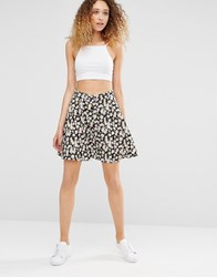 Daisy Street Skirt In Floral Print Pink