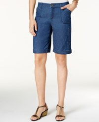 Styleandco. Style Co. Cargo Bermuda Shorts Only At Macy's Medium Chambray