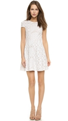 4.Collective Lilou Mosaic Flirty Dress Ivory