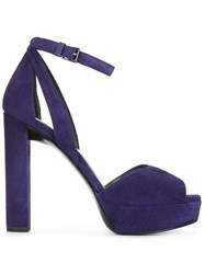 Stuart Weitzman Platform Sandals Pink And Purple