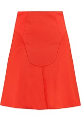 Roland Mouret Heligan Paneled Wool Crepe Mini Skirt Red