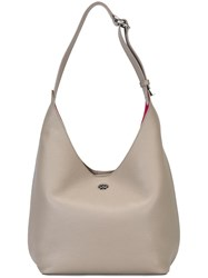 Tory Burch 'Perry' Hobo Shoulder Bag Nude And Neutrals