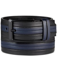Kenneth Cole Reaction Men's Cut Edge Belt Black Navy